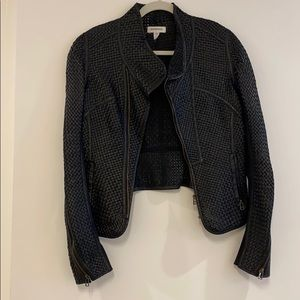 Improvd Woven Leather Jacket